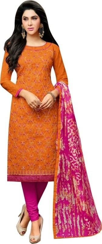 a61f219c2d Embroidered Unstitched Salwar Suit Dupatta Material - CompareMagic